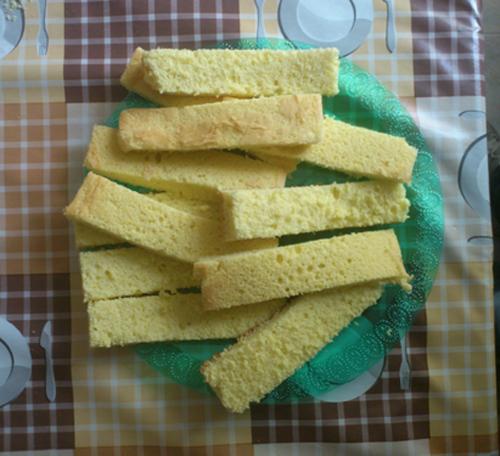 fette del pan di spagna