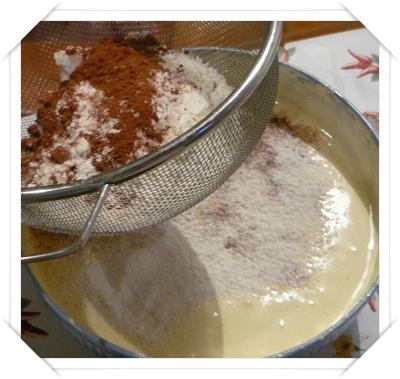 Composto con farina - fecola e cacao