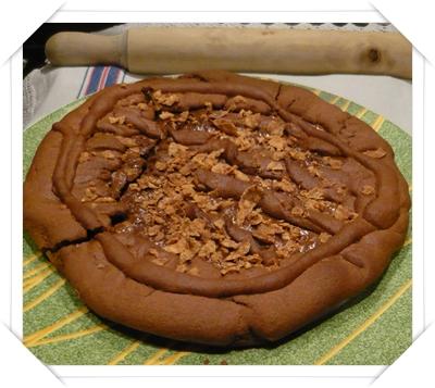 Crostata di cioccolato con cioccolato alle nocciole