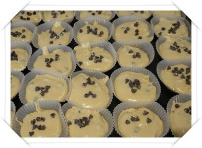 Muffin pronti per essere infornati