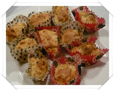 Muffin salati con salmone e feta