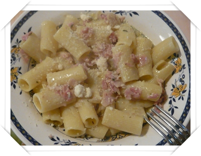 Pasta gorgonzola e cotto