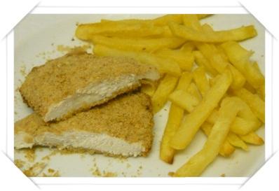 Pollo e patate finte fritte