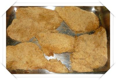 Pollo fritto finto in teglia