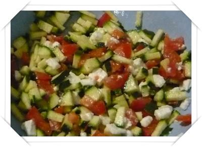 Pomodori zucchine e feta