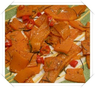 Zucca al forno al rosmarino