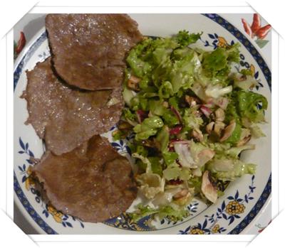 carpaccio di manzo e insalata sfiziosa