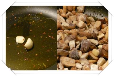 funghi e aglio