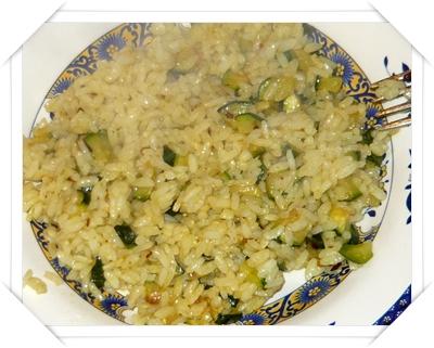 Risotto al curry con zucchine