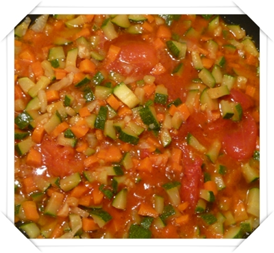 Verdure e pomodoro in padella